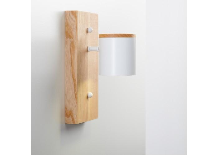 Светильник современный Бра лофт на стену белый Wooden Light white  8