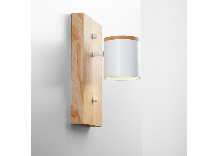 Светильник современный Бра лофт на стену белый Wooden Light white  9