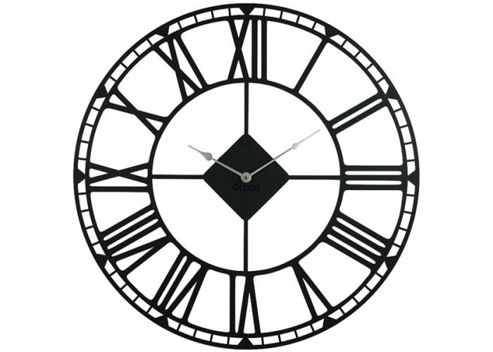Большие Настенные Часы Glozis Oxford Black B-031 70х70  1