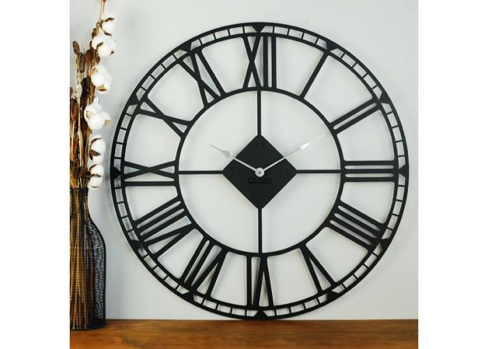Большие Настенные Часы Glozis Oxford Black B-031 70х70  2
