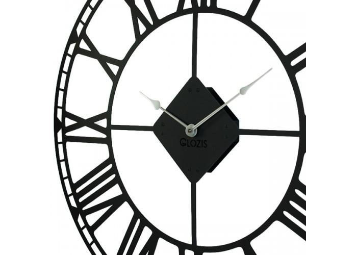 Большие Настенные Часы Glozis Oxford Black B-031 70х70  3