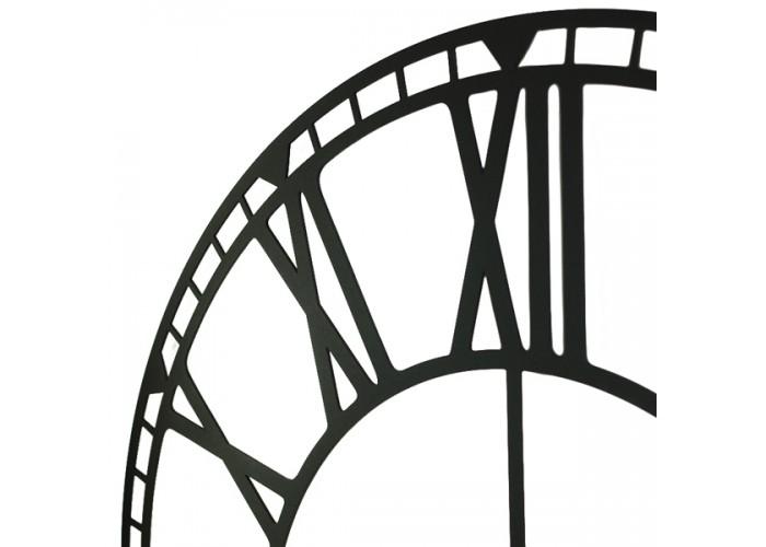 Большие Настенные Часы Glozis Oxford Black B-031 70х70  4