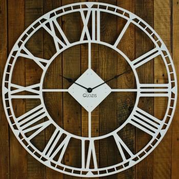 Большие Настенные Часы Glozis Oxford White B-032 70х70
