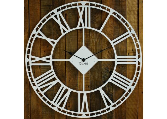 Большие Настенные Часы Glozis Oxford White B-032 70х70  1