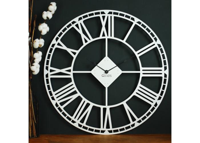 Большие Настенные Часы Glozis Oxford White B-032 70х70  2