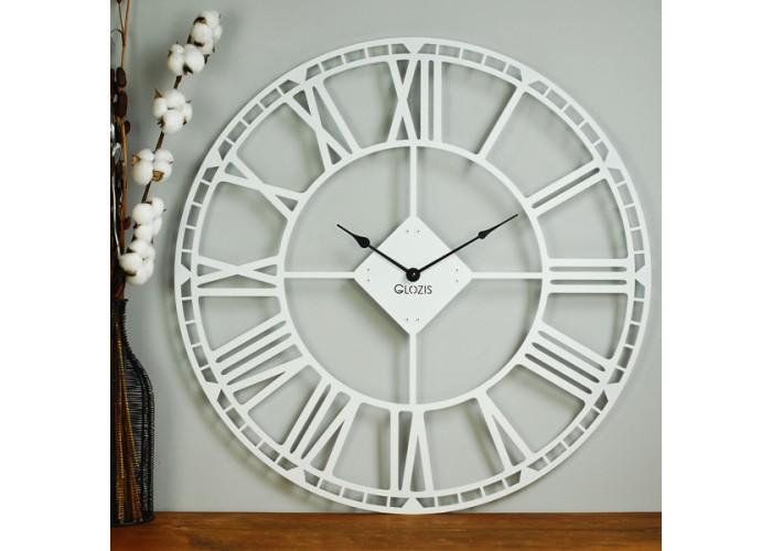 Большие Настенные Часы Glozis Oxford White B-032 70х70  3