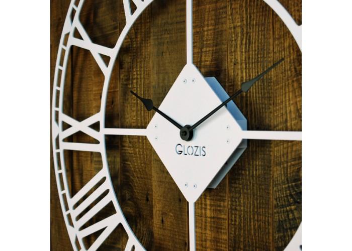 Большие Настенные Часы Glozis Oxford White B-032 70х70  4