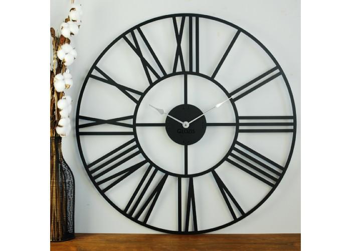Большие Настенные Часы Glozis Cambridge Black B-033 70х70  2