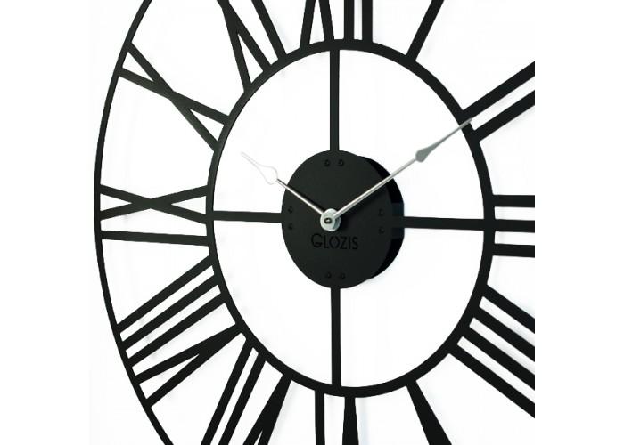 Большие Настенные Часы Glozis Cambridge Black B-033 70х70  3