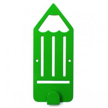 Вешалка настенная Детская Glozis Pencil Green H-042 16 х 7см