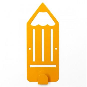 Вешалка настенная Детская Glozis Pencil Yellow H-041 16 х 7см