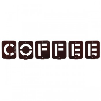Вешалка настенная Glozis Coffee H-004 50 х 10 см