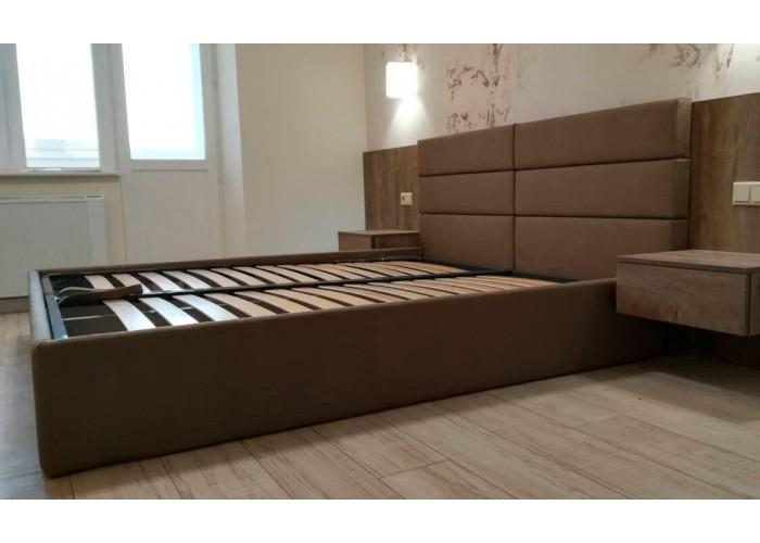 Кровать с мягкими панелями  2