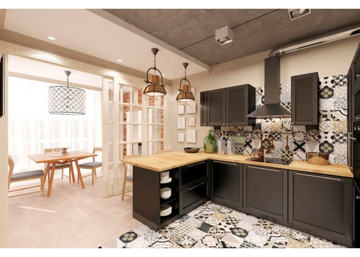 Eco-style kitchen 201 by Pinchuk ADT  2
