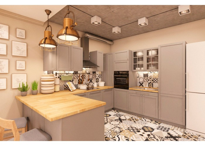 Eco-style kitchen 201 by Pinchuk ADT  3