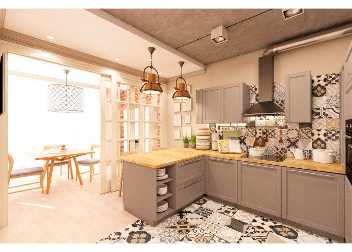 Eco-style kitchen 201 by Pinchuk ADT  4