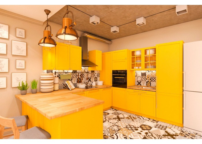 Eco-style kitchen 201 by Pinchuk ADT  5