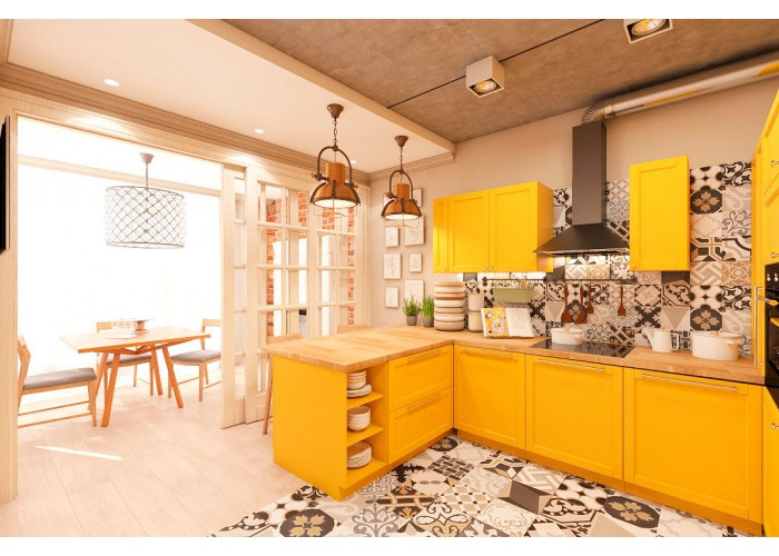 Eco-style kitchen 201 by Pinchuk ADT  6