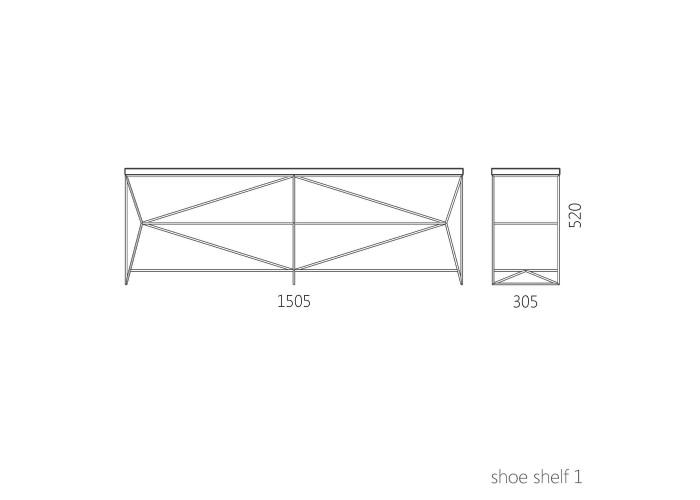 Скамья для обуви Catena (LDZ-021)  9