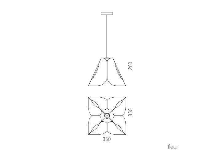 Подвесной светильник Fleur  8