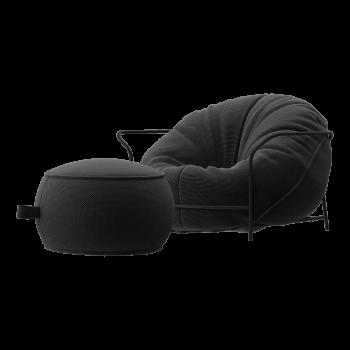 Кресло с пуфом для ног UNI