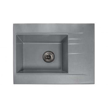 Кухонная мойка гранитная MIRAGGIO BODRUM 650 gray