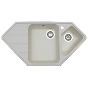 Кухонная мойка гранитная MIRAGGIO TIRRION white