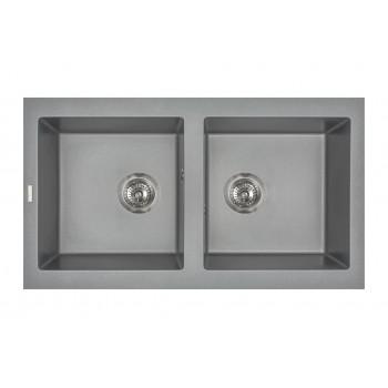Кухонная мойка гранитная MIRAGGIO WESTEROS gray