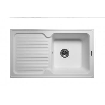 Кухонная мойка гранитная MIRAGGIO ORLEAN white