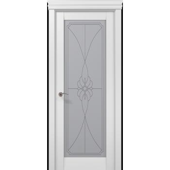 Millenium-09 белый матовый стекло бевелс