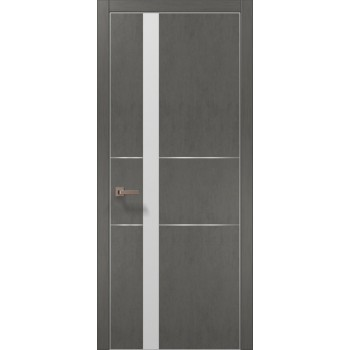 Plato-08 бетон серый алюминиевый торец