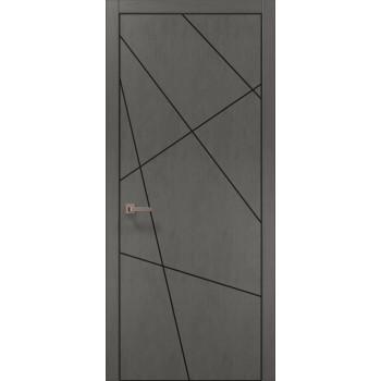 Plato-18 бетон серый алюминиевый торец