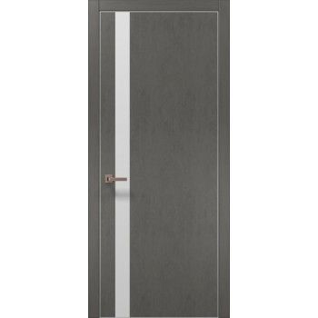 Plato-04 бетон серый алюминиевый торец