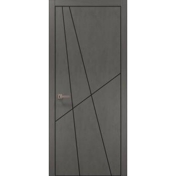 Plato-17 бетон серый алюминиевый торец