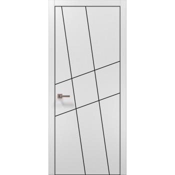 Plato-16 белый матовый алюминиевый торец