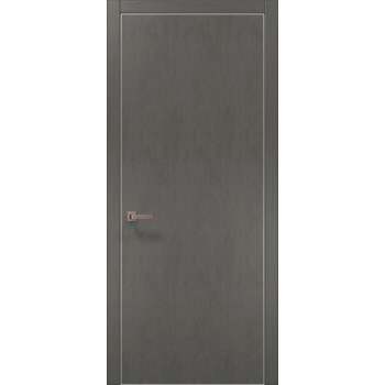 Plato-01 бетон серый алюминиевый торец