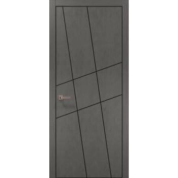 Plato-16 бетон серый алюминиевый торец
