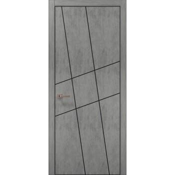 Plato-16 бетон светный алюминиевый торец