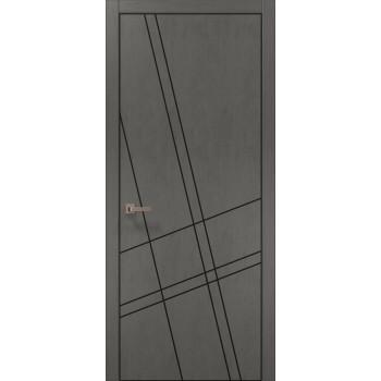 Plato-19 бетон серый алюминиевый торец