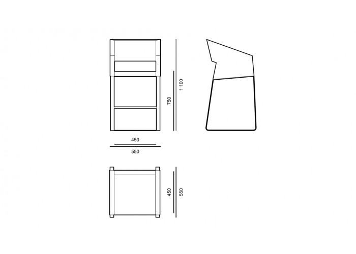 Барный - Basic - стул BCA02 comfort  3
