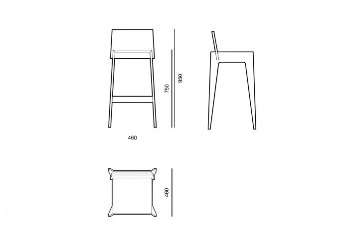 Барный стул - Basic - BCA01  5