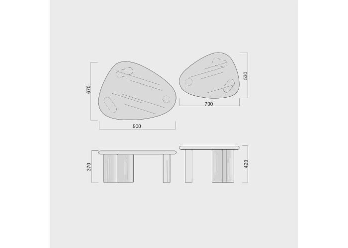 Журнальный стол Kruhlenʹkyy 3 (90х67хh37)  3