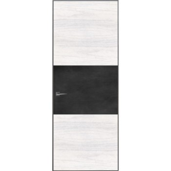Loft L3 – скрытый короб – алюминиевый каркас – шпон и крашенное стекло
