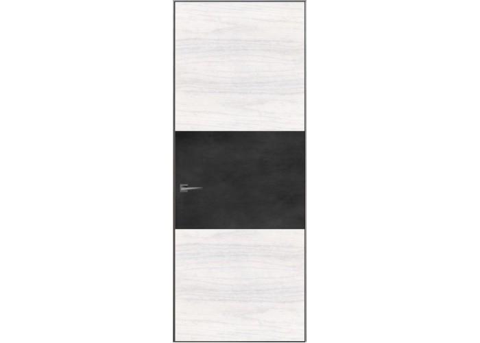 Loft L3 – скрытый короб – алюминиевый каркас – шпон и крашенное стекло  1