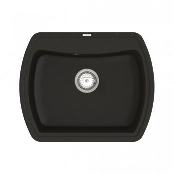 Кухонная мойка Norton NMP 01.63 Black + сифон
