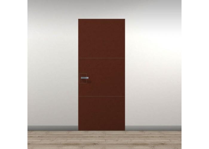 Secret Doors Invisible – скрытая установка короба – отделка кожа  1