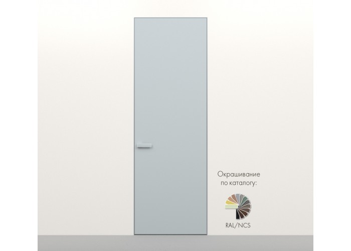 Secret Doors – установка дверей скрытого монтажа – покраска эмаль RAL  9