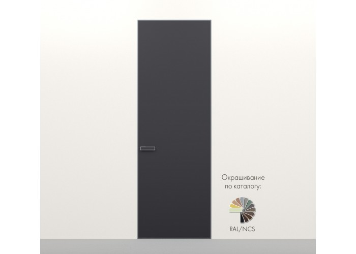 Secret Doors – установка дверей скрытого монтажа – покраска эмаль RAL  5