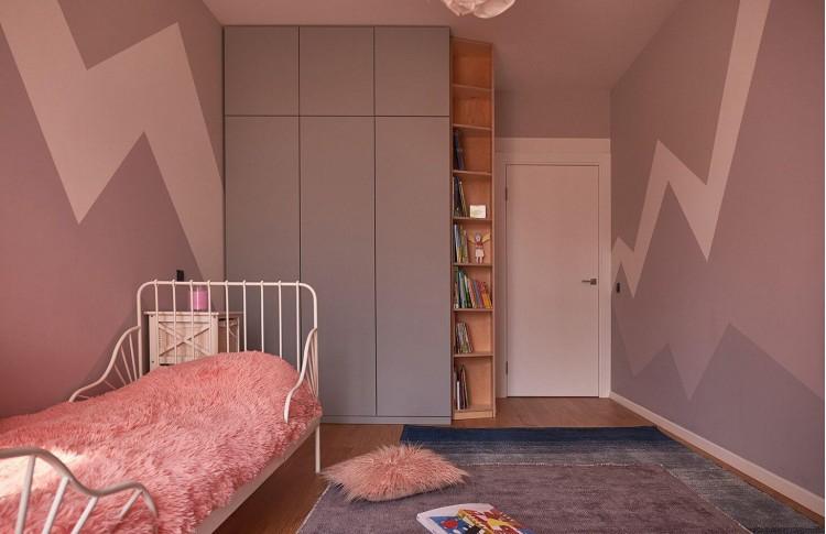 Детская в дизайн-проекте квартиры в ЖК Комфорт Таун, 65м.кв.— Design Burean