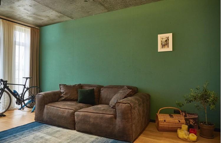 Гостиная в дизайн-проекте квартиры в ЖК Комфорт Таун, 65м.кв.— Design Burean